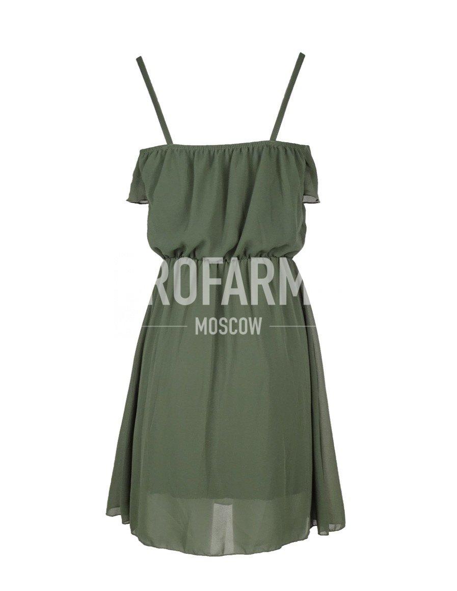 Платье оливковый зеленый, Юбки и платья - арт. 907150153