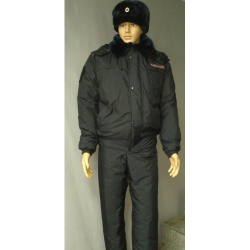 Куртка Полиция зимняя укороченная ( фольга/мембрана/холофайбер), Форменные куртки и плащи - арт. 1019400331