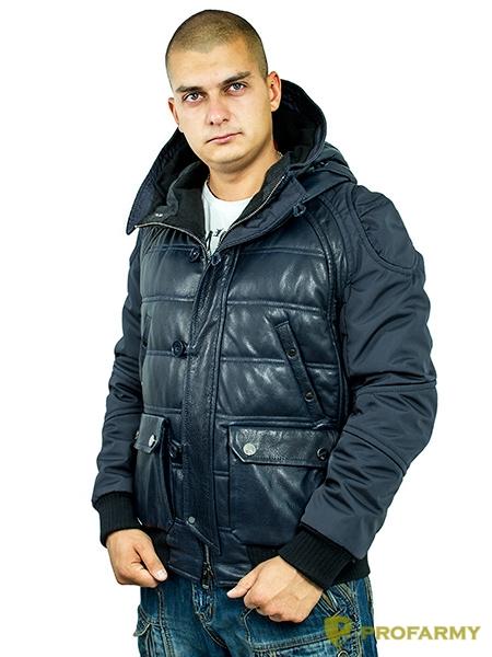 Куртка кожаная МК/17-3К Emora Lagivert, Демисезонные куртки - арт. 1052840334