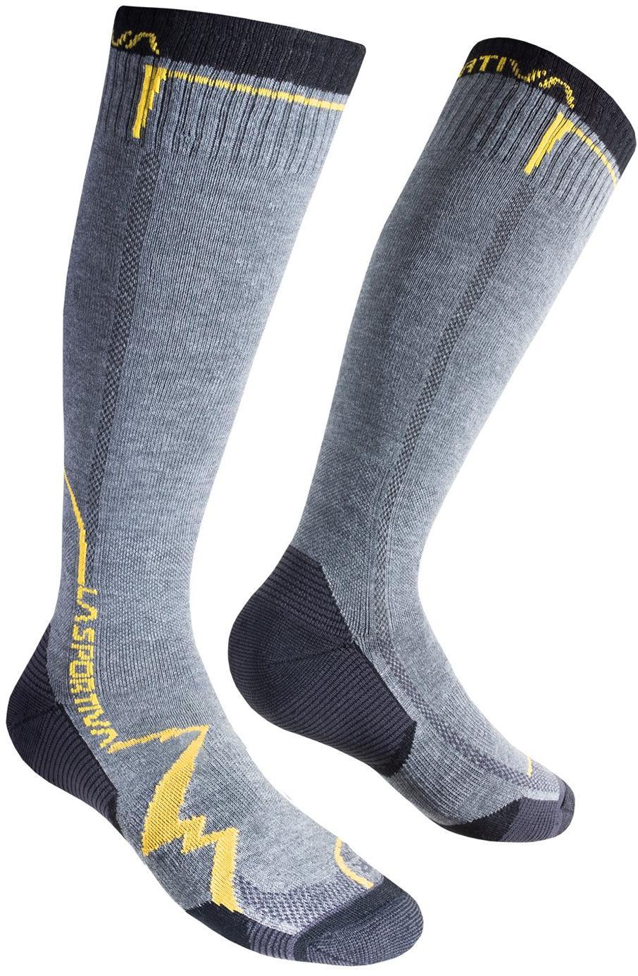 Носки MOUNTAIN SOCKS LONG Grey/Yellow, 29QGY - артикул: 372300183
