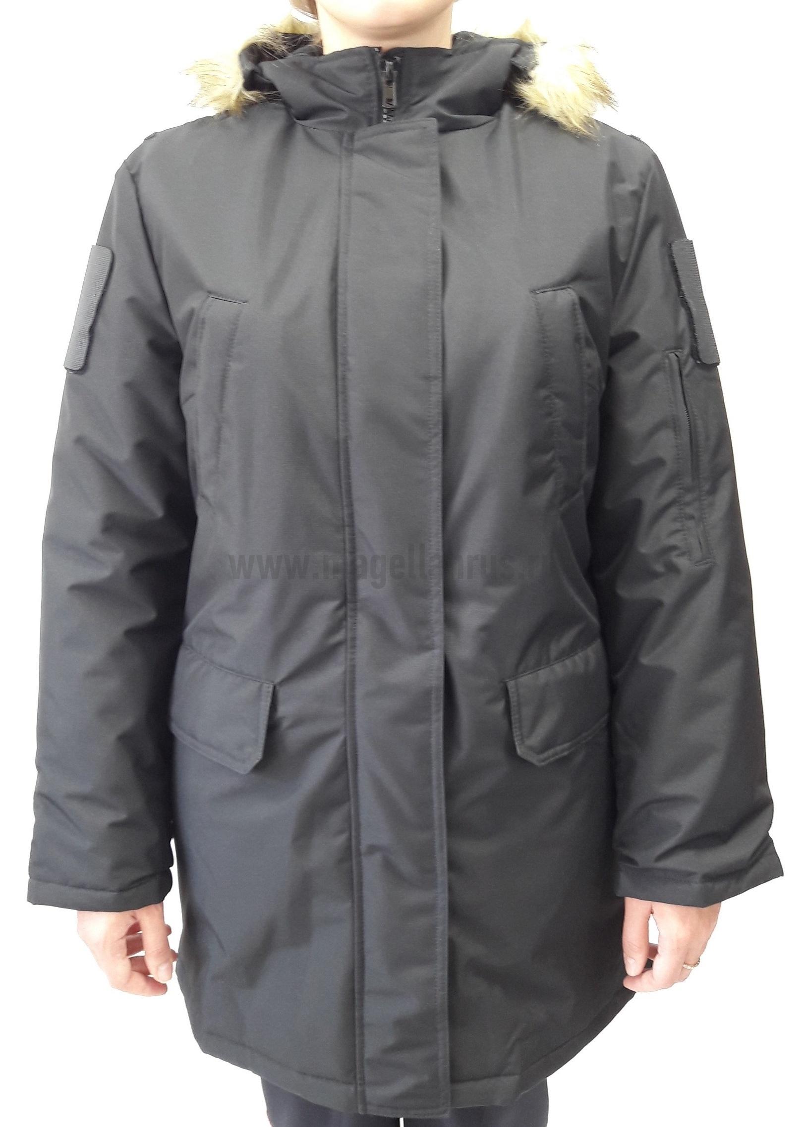 Куртка женская всесезонная МПА-82 (ткань рип-стоп мембрана) черная - артикул: 520070331