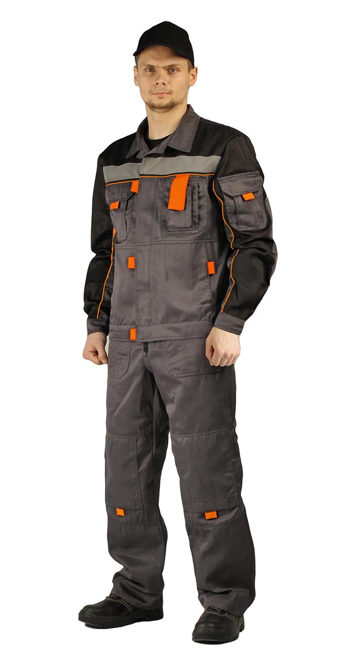 Купить Костюм РОЛЬФ куртка/полукомбинезон цвет: темно-серый/черный, Ursus