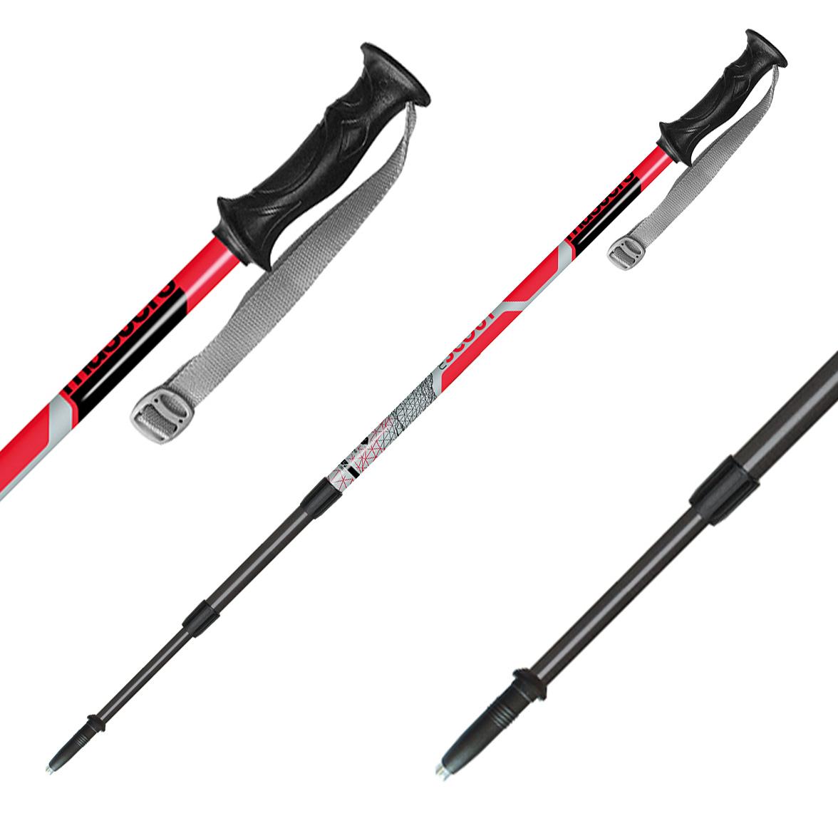 Телескопические палки, SCOUT RED, RECREATIONAL BACKPAKING СЕРИЯ 01S1716, Треккинговые палки - арт. 511140287