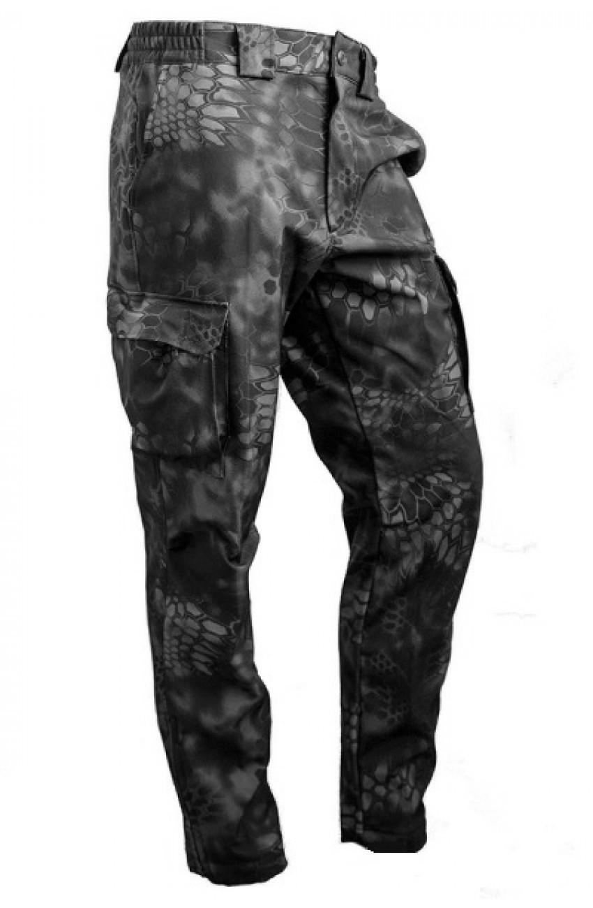 Брюки МПА-28 (ткань Софтшелл), камуфляж питон ночь, Брюки Softshell - арт. 321020346