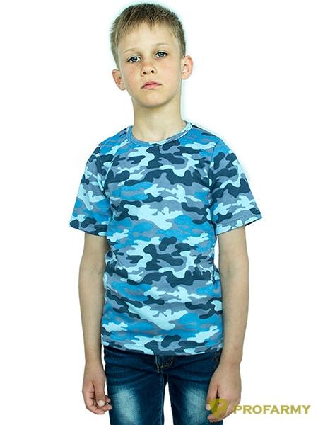 Купить Футболка детская Sky Blue Camo короткий рукав, PROFARMY
