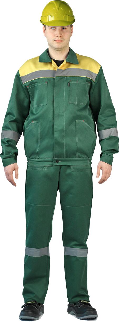 Костюм ЛЕГИОН куртка/полукомбинезон (Т.Зеленый/Желтый), Рабочие костюмы - арт. 1001140257