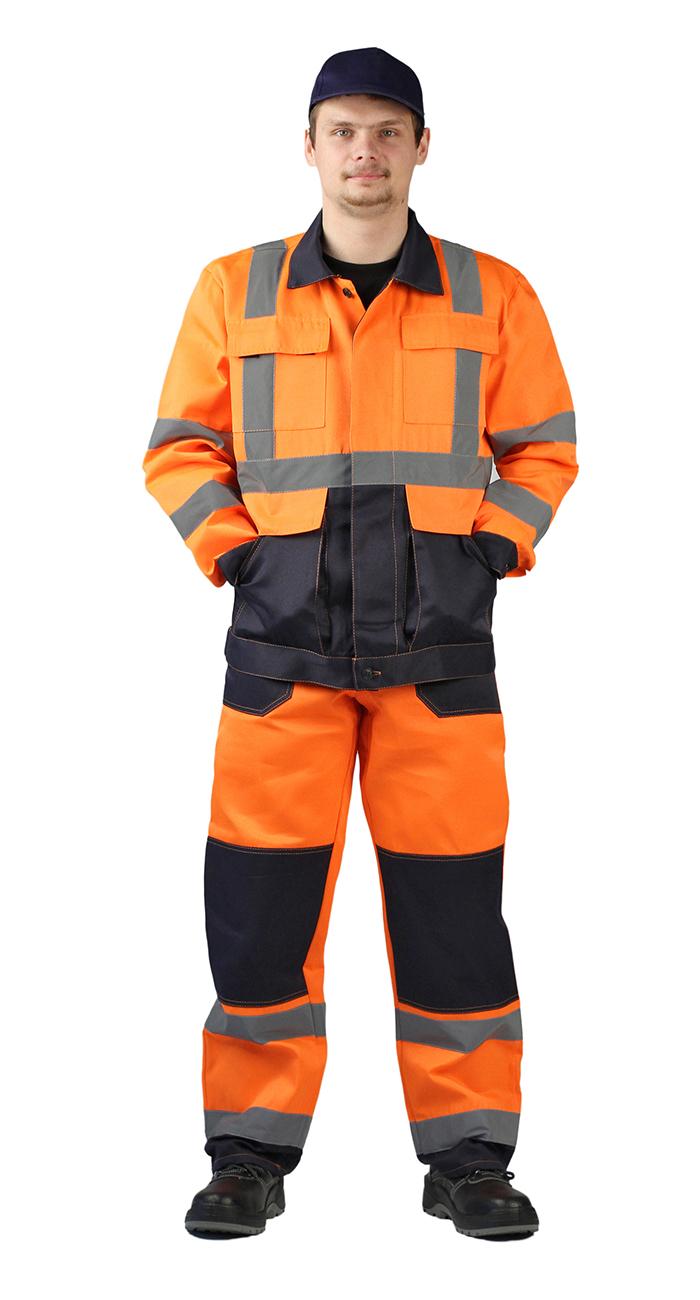Костюм мужской Альянс летний, сигнальный оранжевый с синим, Зимние костюмы - арт. 1070400258