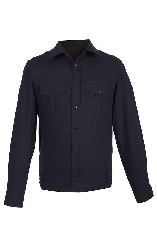 Рубашка ВКС офисная, длинный рукав, синяя