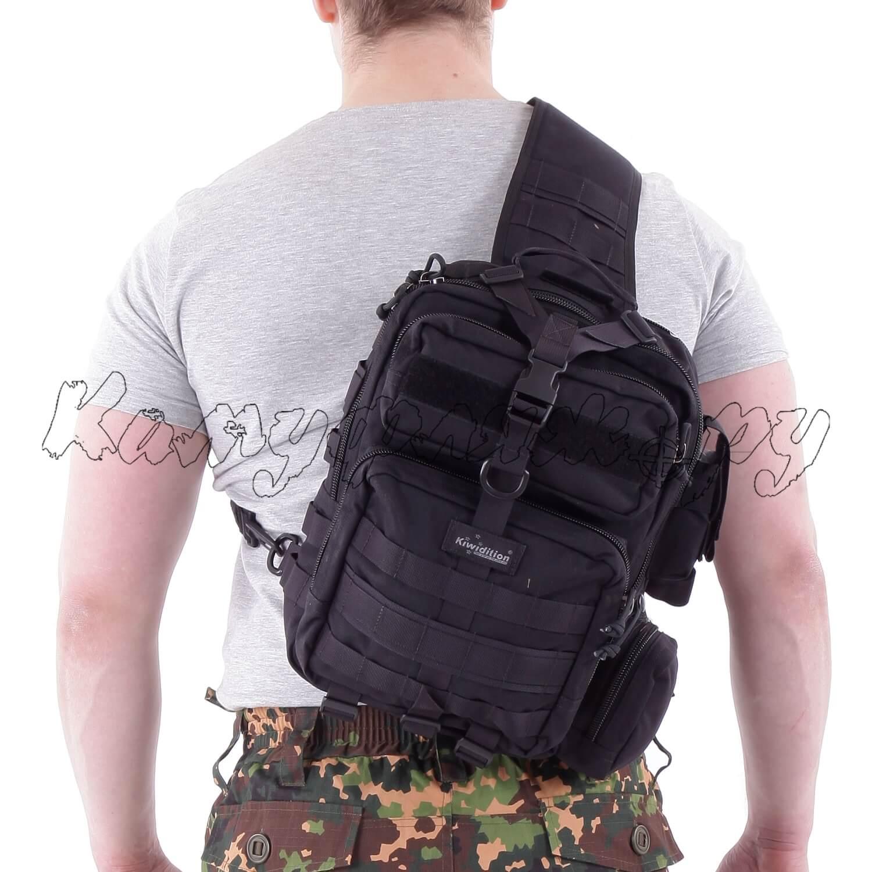 Рюкзак однолямочный Kiwidition Tonga 13 л 1000 den черный, Тактические рюкзаки - арт. 1011720264