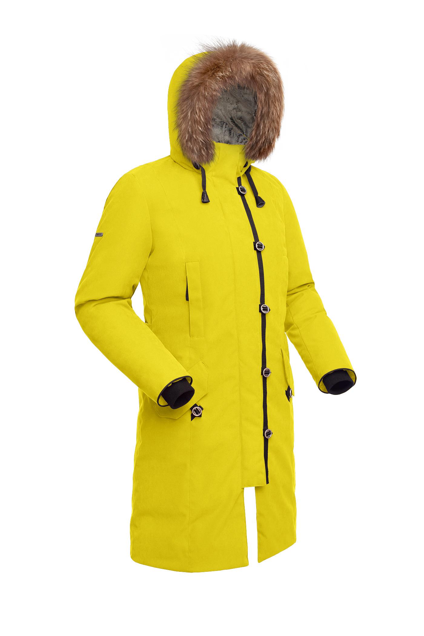 Пальто пуховое женское BASK HATANGA V2 желтое, Пальто - арт. 999820409