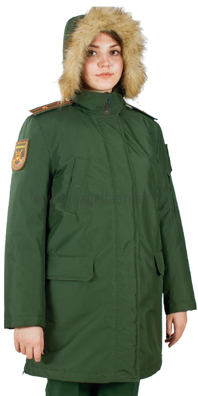 Куртка женская всесезонная МПА-82 (ткань рип-стоп мембрана) зеленая - артикул: 520050331