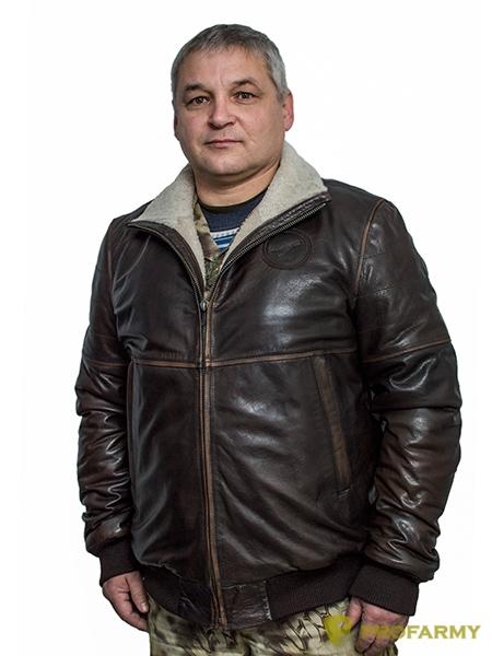 Купить Куртка кожаная меховая 7172 Vegas Brown, PROFARMY