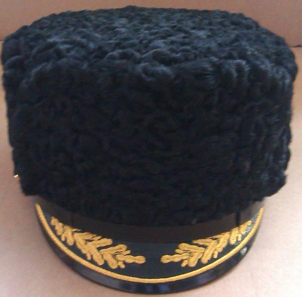 Купить Шапка из каракуля для капитанов I ранга, полковников, адмиралов и генералов ВМФ (с вышивкой), Форма одежды