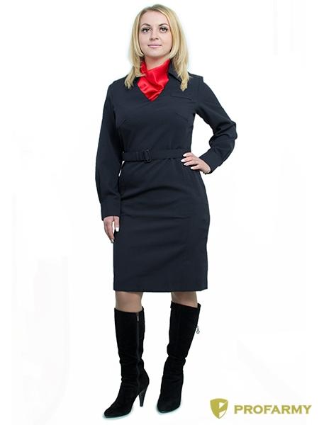 Платье Полиция, длинный рукав, габардин, Юбки и платья - арт. 870220153