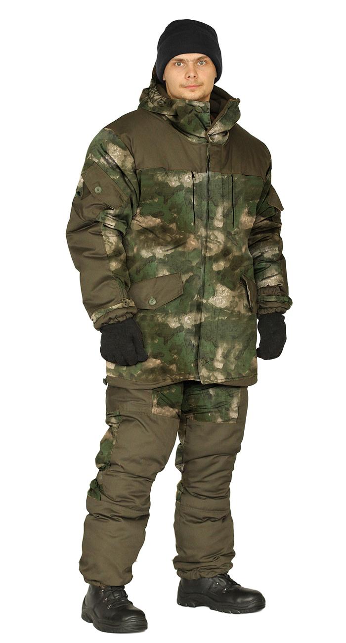 Костюм демисезонный ГОРКА 3 куртка/брюки, цвет:, камуфляж атака зеленый/темный хаки, тк: Рип-Стоп/Грета, Брюки - арт. 1123610151