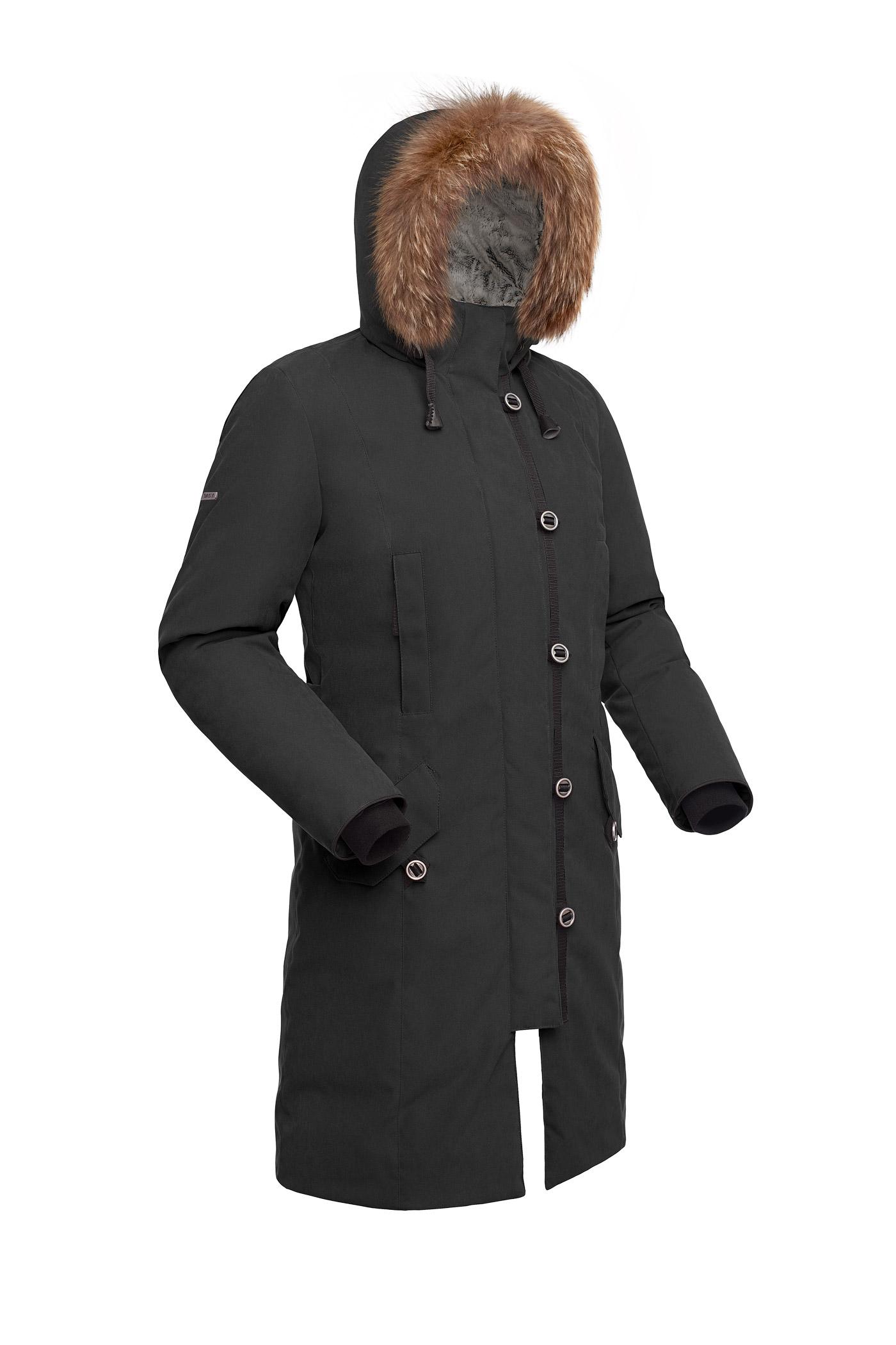 Купить Пальто пуховое женское BASK HATANGA V2 черная, Компания БАСК