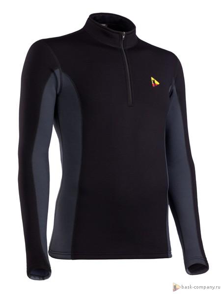 Термобелье мужское куртка T-SKIN MAN черное с темно-серым, Термобелье - арт. 321890185
