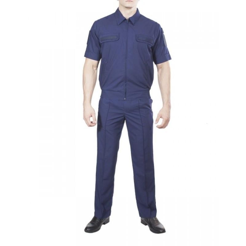 Купить Костюм МО офисный мужской, короткий рукав, (ткань рип-стоп 240 цвет синий), Патруль
