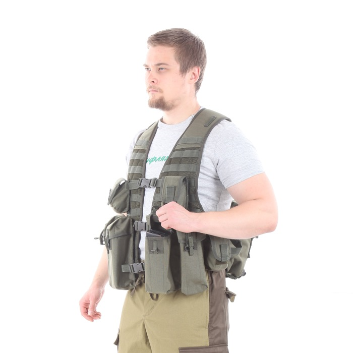 Жилет KE Скорпион с патрульными подсумками олива, Жилеты - арт. 992470184
