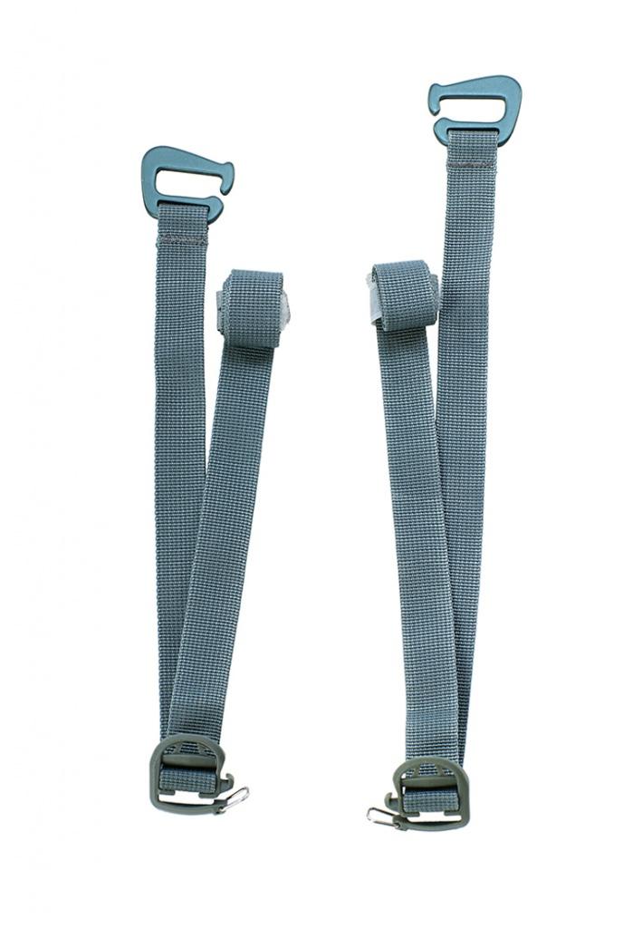 Купить Съемные нижние затяжки для серии рюкзаков 2 шт. BASK NOMAD темно-серые, Компания БАСК