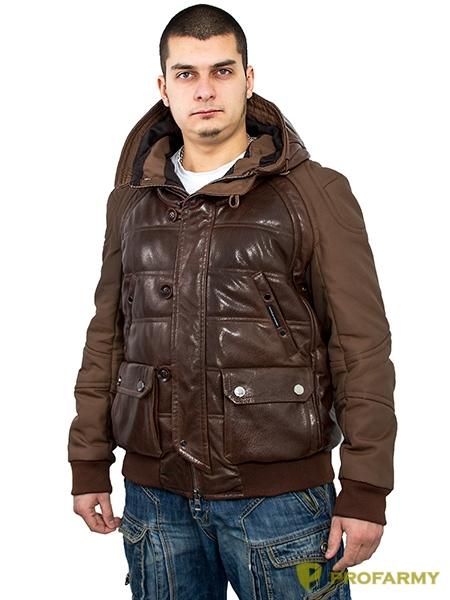 Куртка кожаная МК/17-3К Emora Brown, Демисезонные куртки - арт. 1052830334