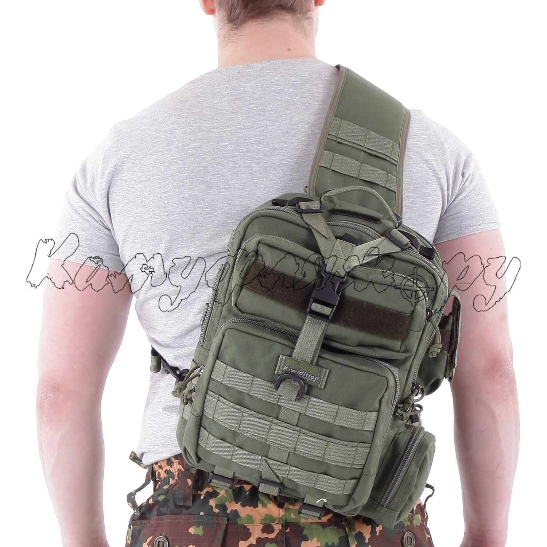 Рюкзак однолямочный Kiwidition Tonga 13 л 1000 den олива, Тактические рюкзаки - арт. 1011940264