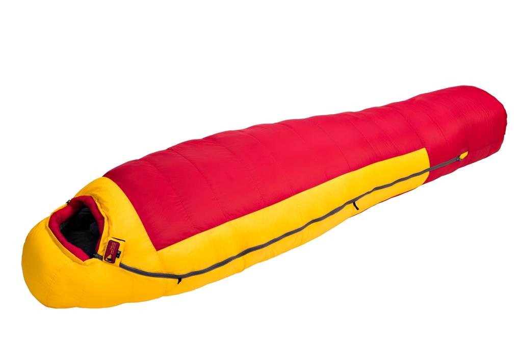 Купить Спальный мешок BASK KARAKORAM 800+ XL -44 красный/желтый, Компания БАСК