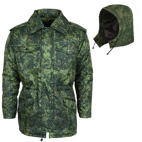Куртка зимняя М4 цифровая флора оксфорд с капюшоном