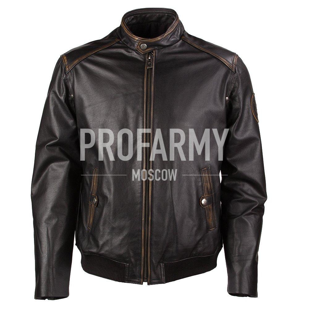 Купить Куртка демисезонная из натуральной кожи Madras Black, PROFARMY