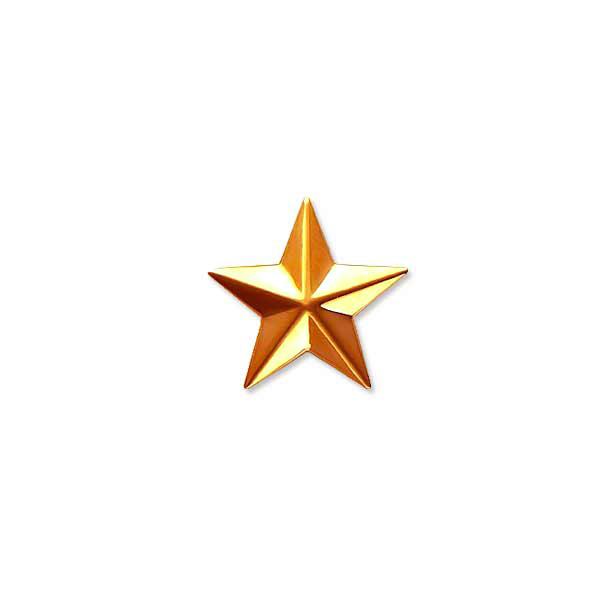 Звезда на погоны пластиковая 13мм золотая ФП-57