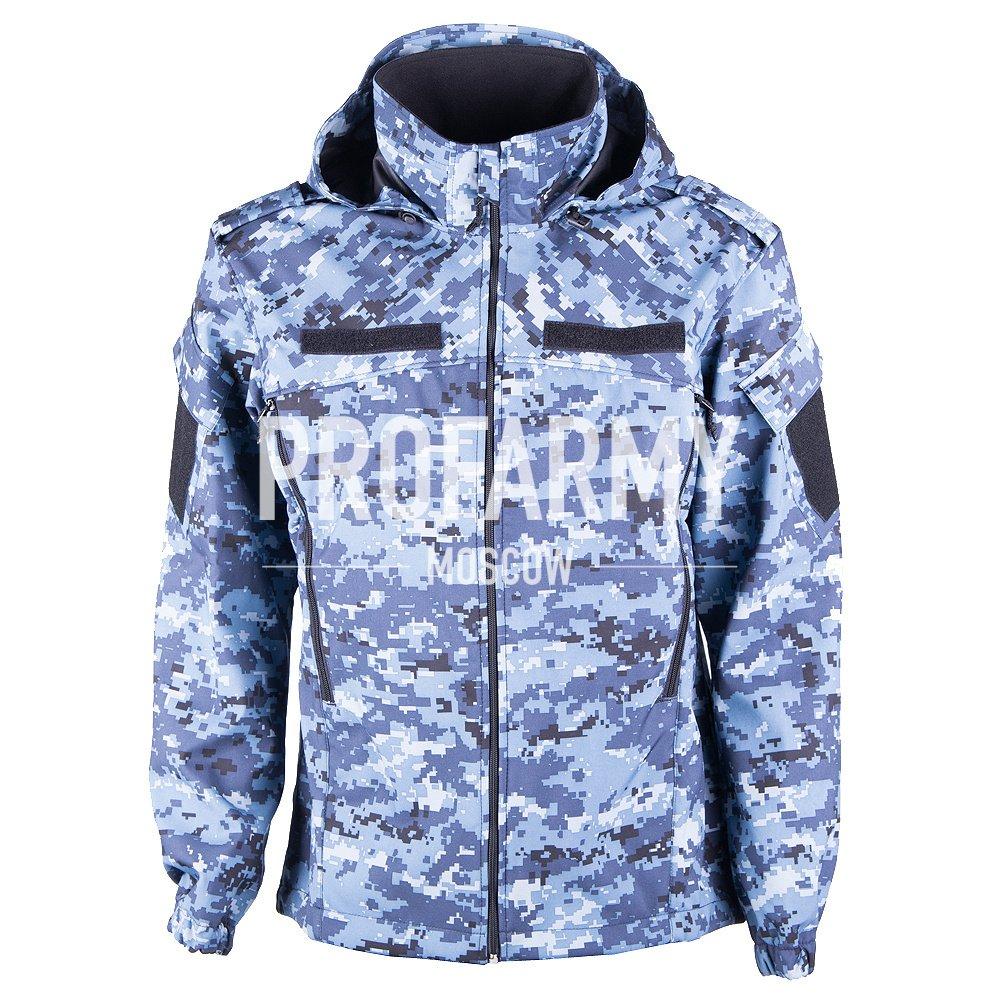 Куртка ВКБО Softshell синяя цифра