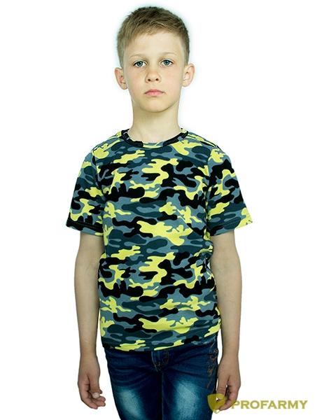 Купить Футболка детская Yellow Camo короткий рукав, PROFARMY