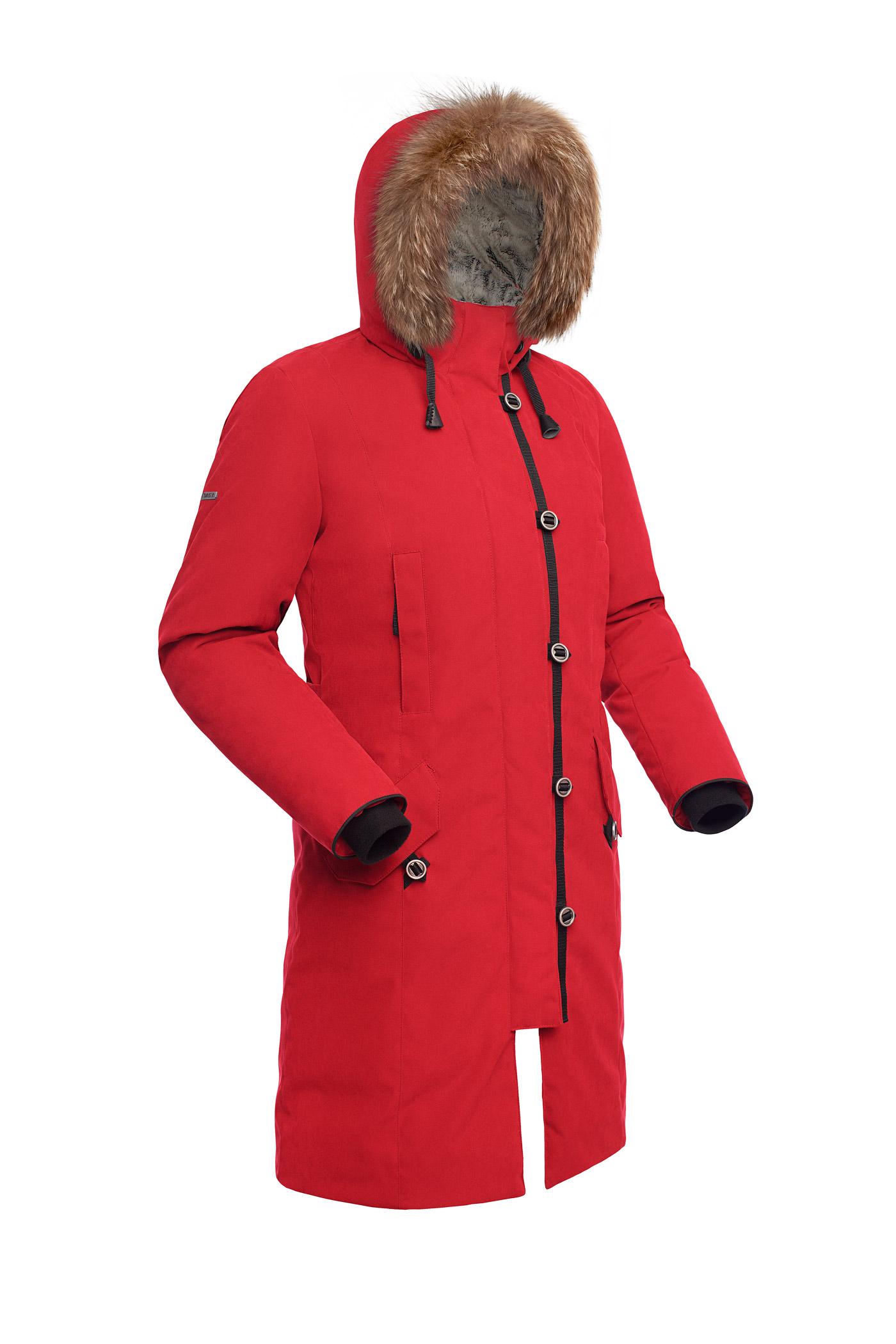 Пальто пуховое женское BASK HATANGA V2 красное, Пальто - арт. 971260409