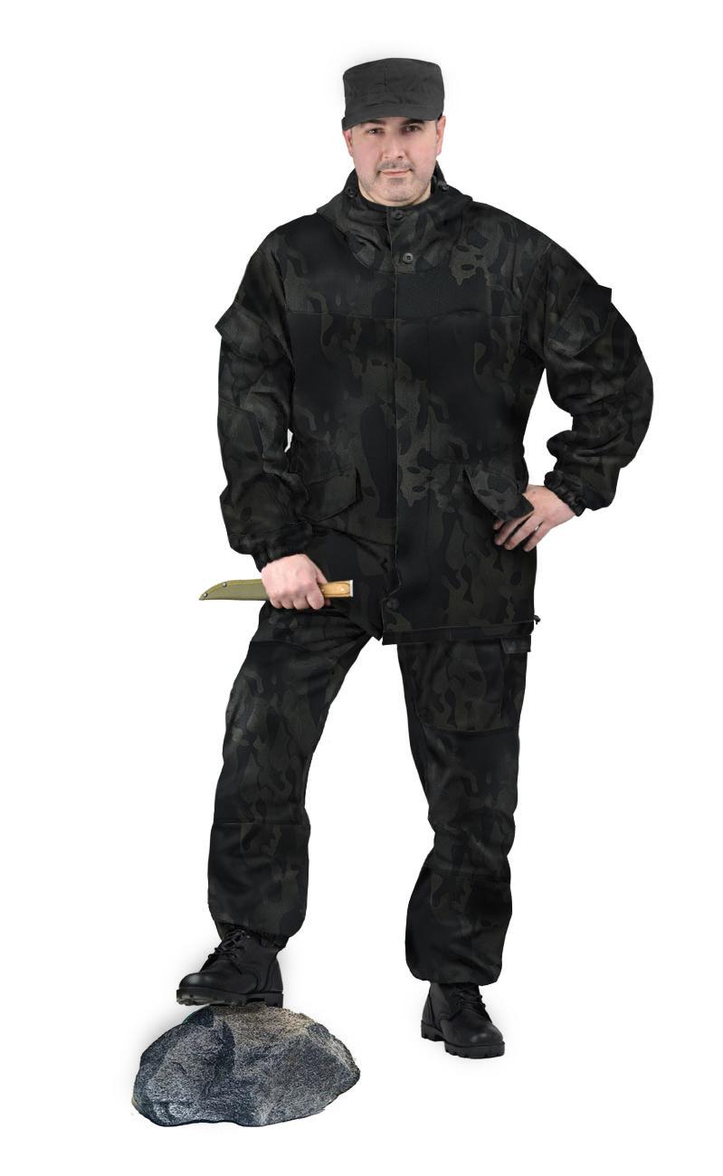 Костюм Горка 3 куртка/брюки, камуфляж МУЛЬТИКАМ ЧЁРНЫЙ, ткань грета, Брюки - арт. 1033830151