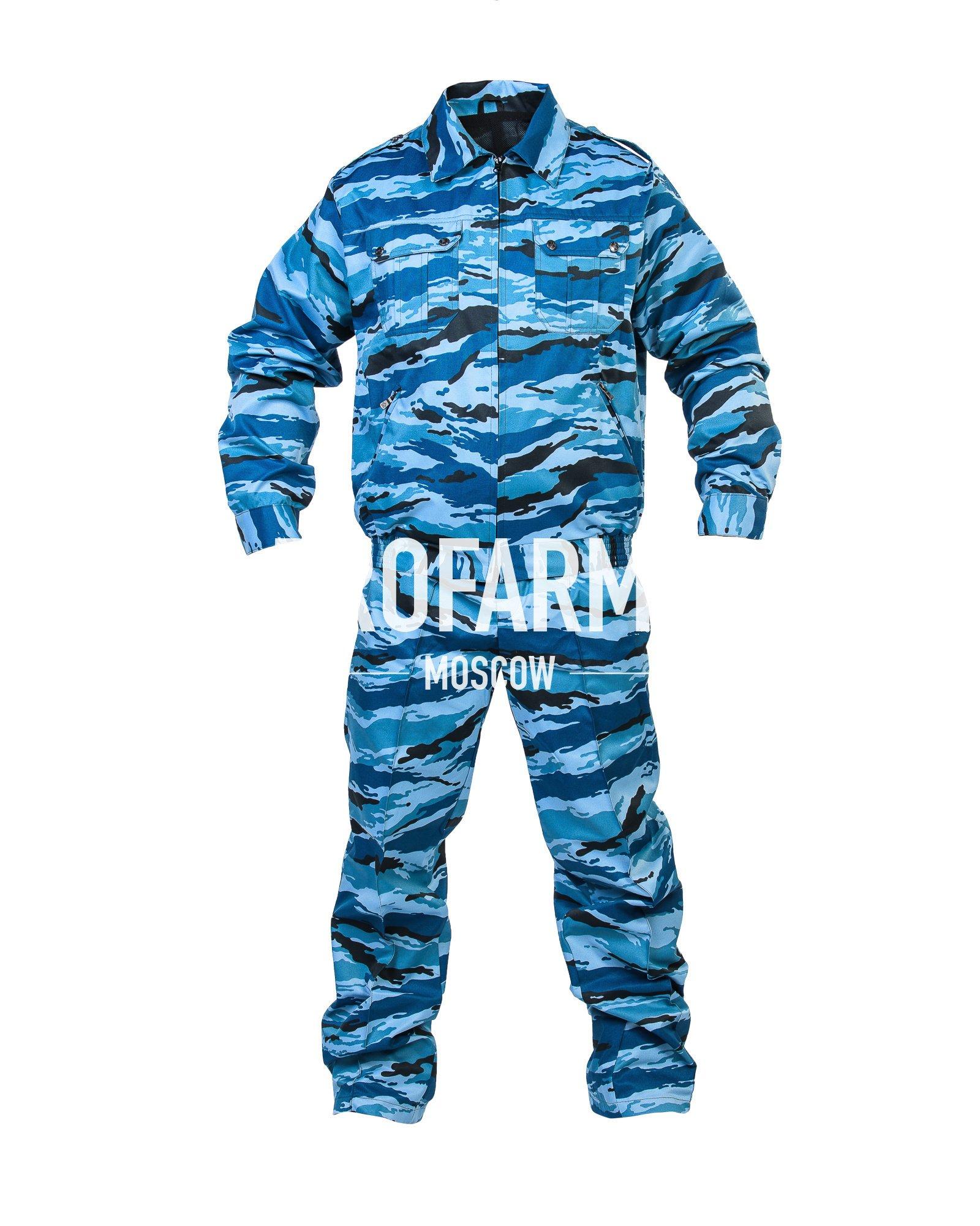 Костюм ГЕФЕСТ летний охрана (синий камыш), Форменные костюмы - арт. 860190247