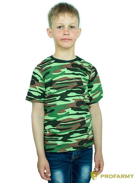 Купить Футболка детская Woodland light green Camo короткий рукав, PROFARMY