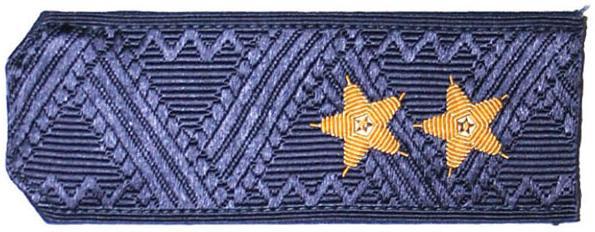 Погоны ВКС-ВВС-ВДВ генерал-лейтенант с хлястиком повседневные