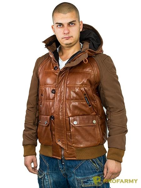 Куртка кожаная МК/17-3К Emora Red Brown, Демисезонные куртки - арт. 1052850334