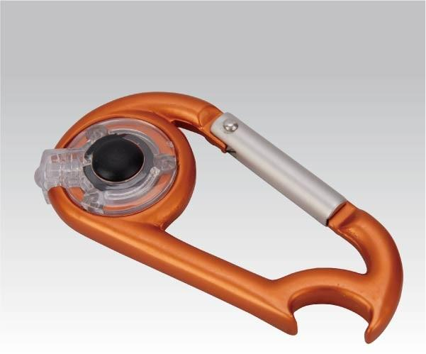 Карабинчик Фонарь-карабин с открывалкой (упак=10 шт), 1089, Карабины - арт. 281010385