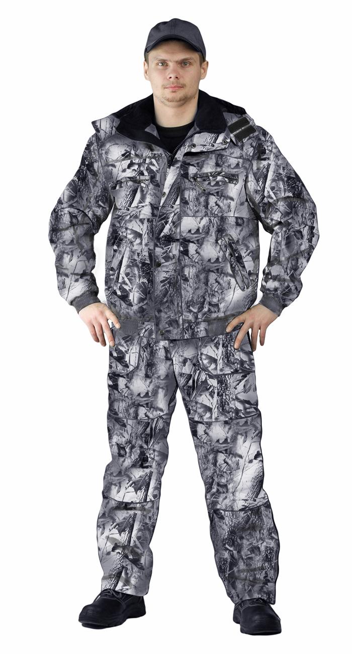 Костюм зимний «ВИХРЬ» куртка/полукомб. цвет:, камуфляж зимний дубок, ткань : Алова, Костюмы для охоты - арт. 1119460399