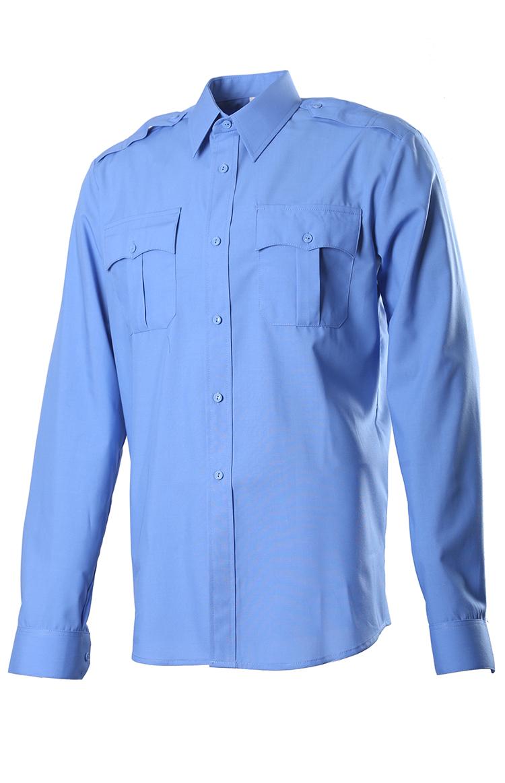 Купить Сорочка, длинный рукав, Сорочечная голубая 527, ОКРУГ
