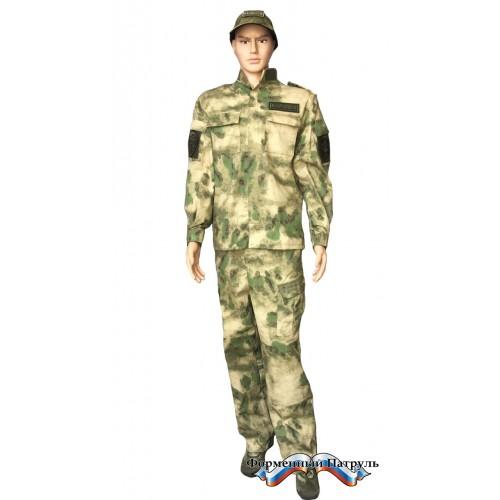 Костюм полевой Росгвардия с длинным рукавом (цвет мох, Peach effect), Форменные костюмы - арт. 1039710247