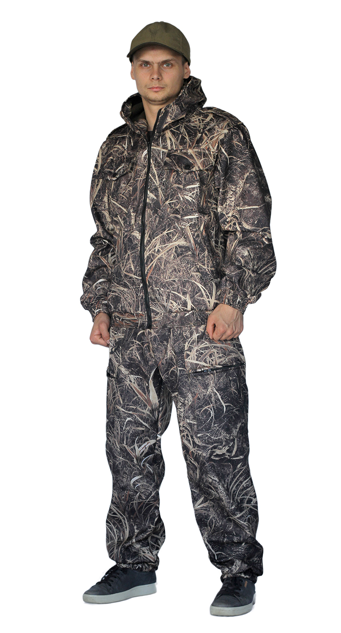 Костюм КАСКАД куртка/брюки, цвет:, камуфляж бёрд, ткань : Полофлис, Костюмы для охоты - арт. 1147250399