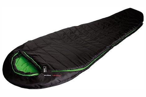 Мешок спальный Pak 1300 чёрный/зелёный, 23313, Трехсезонные (Весна/Осень) спальники - арт. 617620371