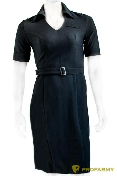Платье полиции поливискоза короткий рукав, Юбки и платья - арт. 870210153