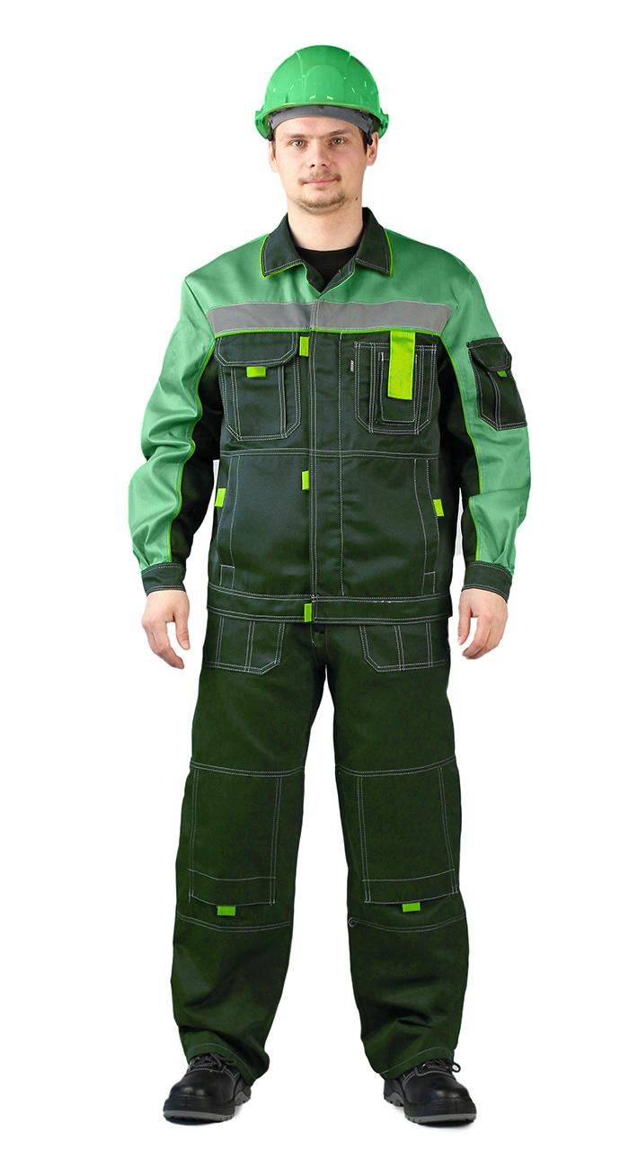 Купить Костюм РОЛЬФ куртка/полукомбинезон, темно-зеленый/светло-зеленый, Ursus