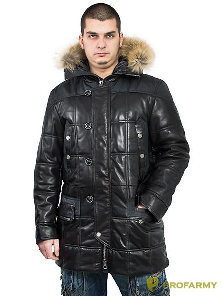 Куртка кожаная МК/17-9К Bornish Black, Демисезонные куртки - арт. 1052920334
