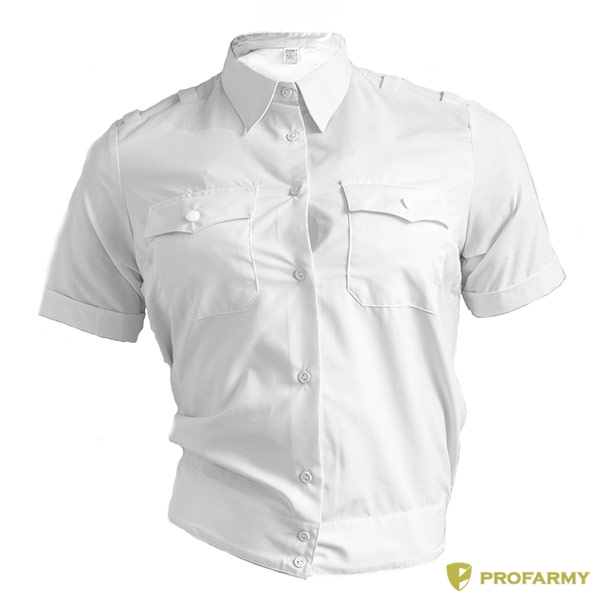 Купить Рубашка Полиция женская белая с коротким рукавом, PROFARMY