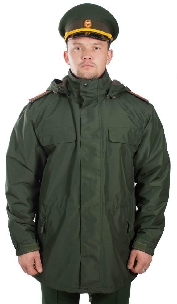 Куртка демисезонная под офисную форму воротник на стойке (рип-стоп/зеленая) - артикул: 495520331