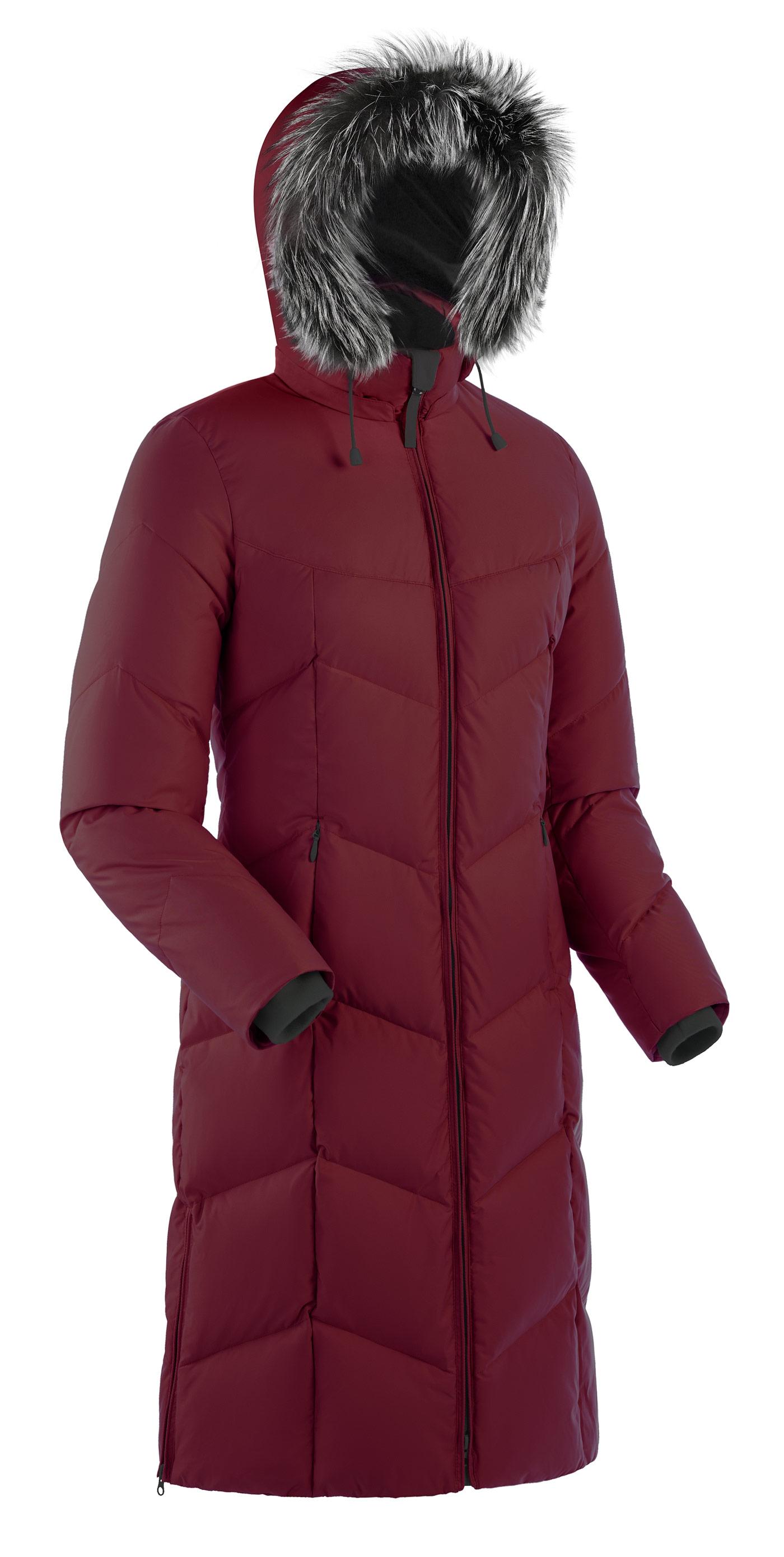 Пальто пуховое женское BASK ROUTE V3 бордо, Пальто - арт. 164870409